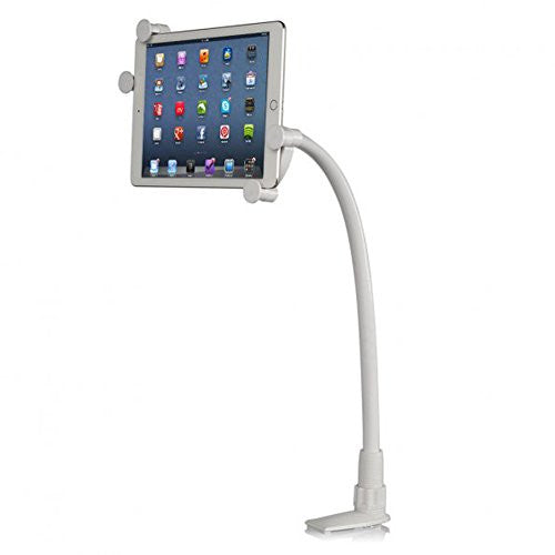 i-Static Universal Tablet Stand Desktop Clamp Holder 360 Degree Bedside Firm White