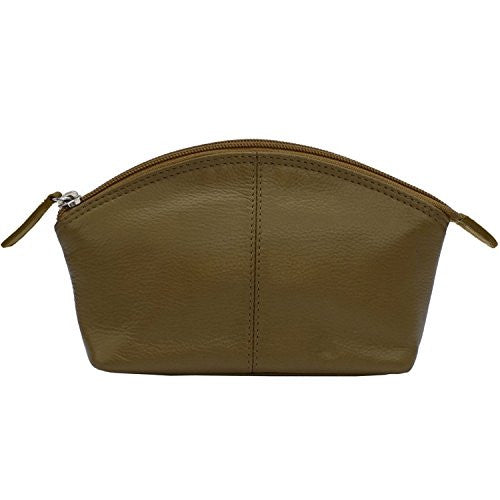 Leather Cosmetic Make-up Case Olive