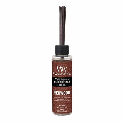 "WoodWick Redwood 4.0 oz Reed Refill, 1.88"" x 1.63"" x 8.25"""