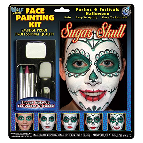 Face Painting Kit (Sugar Skull w/ step-by-step book)