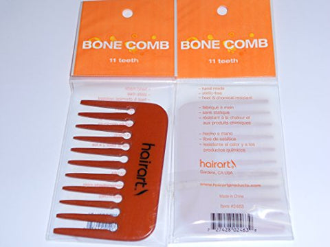Hair Art Bone Comb 11 Teeth #2463
