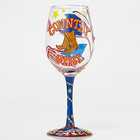 "WINE GLASS COUNTRY GIRL, 9"" (15 oz. )"