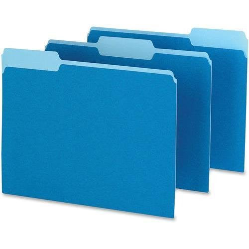 Pendaflex File Folder - Color, 1/3 Tab, Blue, Letter