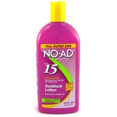 No-Ad Spf#15 Sunblock Lotion 16oz (2 Pack) by No-Ad Suntan