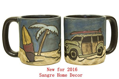 Woody Surf Wagon Round Mug 16 Oz.