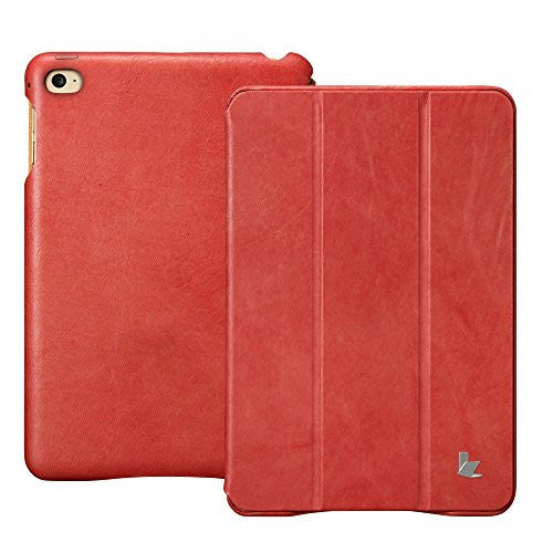 Vintage Genuine Leather Series for iPad Mini 4, Red