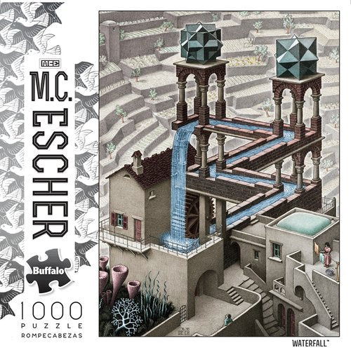 M.C. Escher Waterfall 1000 Piece Jigsaw Puzzle