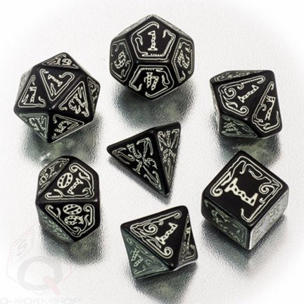 Call of Cthulhu - Black & glow-in-the-dark Dice set (7)