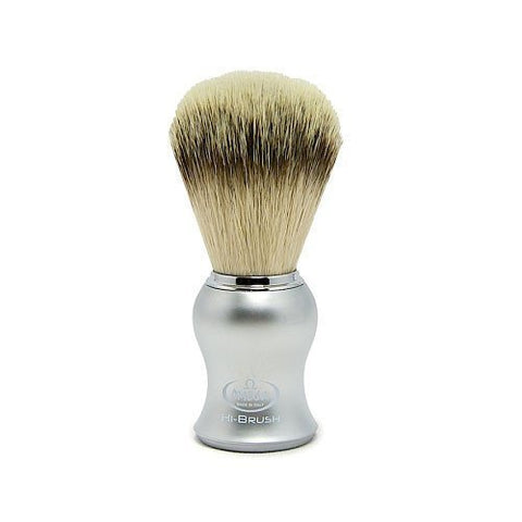 0146229 Hi-Brush Synthetic Fiber Shaving Brush, Plastic Handle, Grey