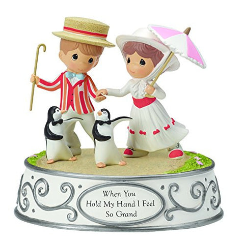 """When You Hold My Hand I Feel So Grand"" Musical Tune: Jolly Holiday Material: Resin, 5.5"""