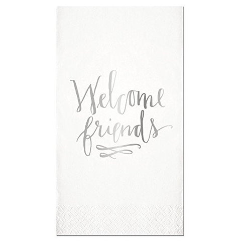 "16ct Guest Towel - ""Welcome Friends"""