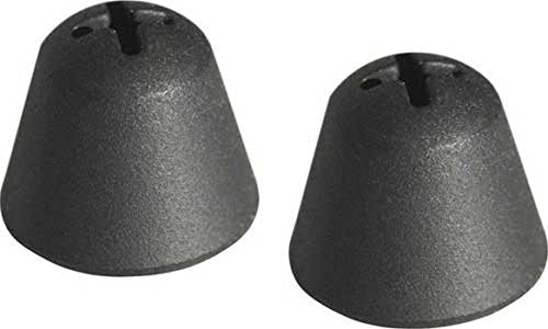 Replacement Silicone Eartips For Sennheiser Headsets (Black, Pair)
