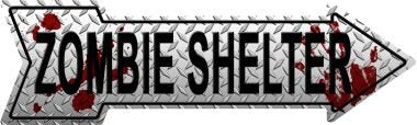 ZOMBIE SHELTER WHOLESALE NOVELTY METAL ARROW SIGN A-245