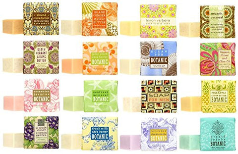 1.9oz Mini Soap, African Violet and Cocoa Butter 1.9oz Mini Soap, Passion Flower,  1.9oz Mini Soap, Fresh Milk and Shea Butter, 1.9oz Mini Soap, Black Currant and Olive Butter 1.9oz Mini Soap, Island Ginger Mango,  1.9oz Mini Soap, Ocean Pur,  1.9oz Mini