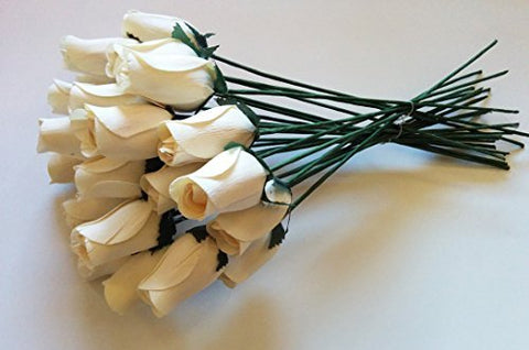 1 bunch Petite Rose Buds, white