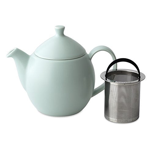 Dew Teapot with Basket Infuser 1 oz- Minty Aqua