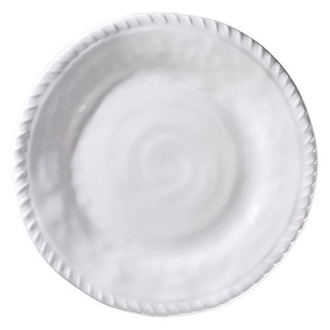 White Rope Round 11 in. Dinner Plate White