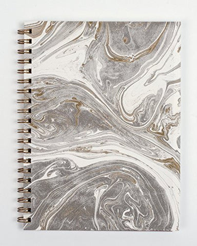 """Gray & Gold Marbled"" Journal"