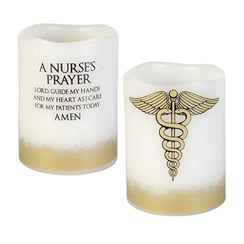 """Nurse's Prayer"" Mini Prayer Candle"