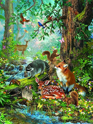 "Woodland Forest Friends, 300 piece puzzle (18"" x 24"")"
