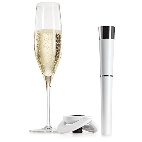 Zzysh by Vinturi Champagne Presever - White and Zzysh by Vinturi Champagne Stopper - White