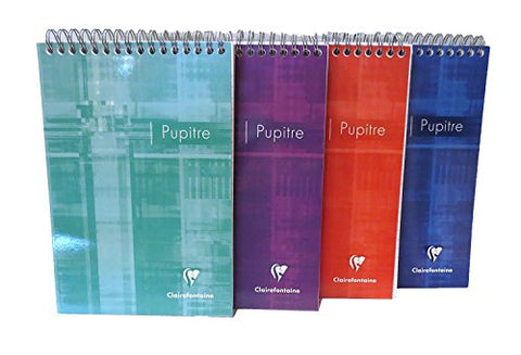 Clairefontaine Classic Notepads Top Wirebound 5 ¾ x 8 ¼ Lined Assorted Covers 80 sheets