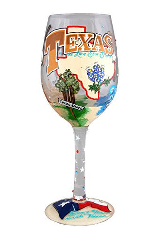 "WINE GLASS THE LONE STAR STATE 9"" (15 oz.)"