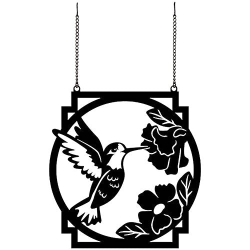 """Hummingbird"" Metal Garden Flag"