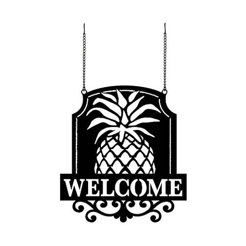 """Welcome Friends"" Metal Garden Flag"