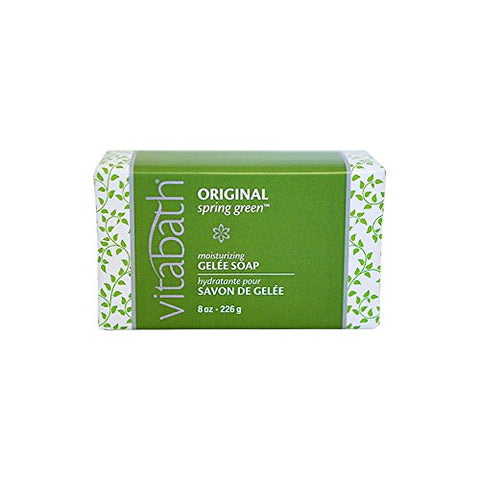 Vitabath Moisturizing Gelee Soap, Original Spring Green, 8 Ounce
