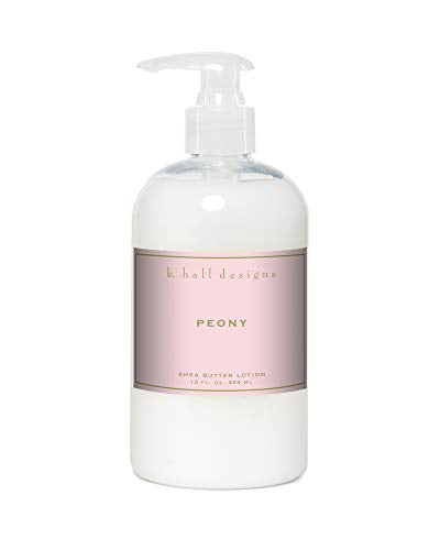 K. Hall Designs 12oz Shea Butter Hand & Body Lotion Peony