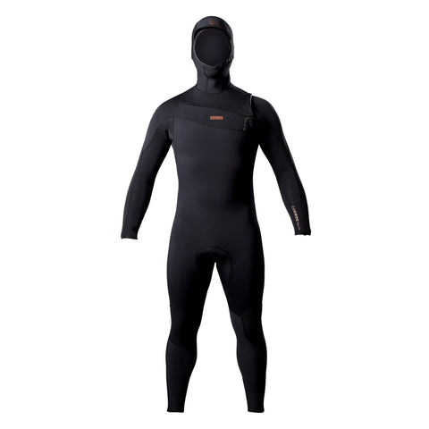 Adelio Connor 5/4 Deluxe Hooded Black Steamer Wetsuit