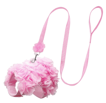 Load image into Gallery viewer, Pink Floral Dog Harness Leash Set | Pink Floral Harness