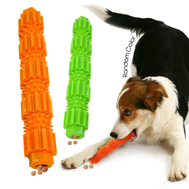 Interactive Rubber Dog Toys Pet Puppy Playing Feeding Food Toys Chew Biting Toy For Small Dogs Pets Teeth Cleaning BiteResistant