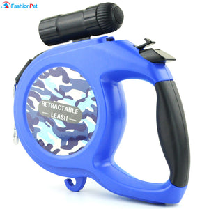 8M Retractable Dog Leash with LED Light