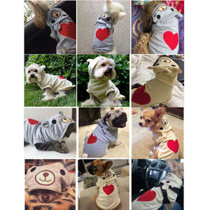 Lovely Pet Dog Coat for Small Dogs With Cartoon Print