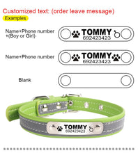 Load image into Gallery viewer, Personalised Reflective Leather Collars