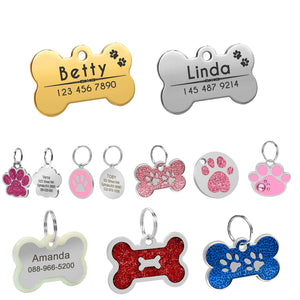 Dog ID Engraved Metal Customized Pet