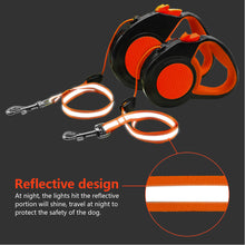 Load image into Gallery viewer, 10Ft 16Ft Retractable Dog Leash Automatic Extending Walking Lead Reflective With Free Dog Waste Dispenser For Small Medium Dogs