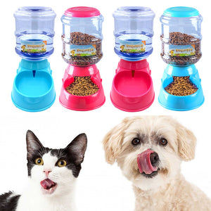 3.5L Plastic Automatic Pet Feeder Drinking Fountain For Cats Dogs Puppy Dog Food Bowl Dish Water Dispenser Feeding Pet Supplies