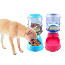 Load image into Gallery viewer, 3.5L Plastic Automatic Pet Feeder Drinking Fountain For Cats Dogs Puppy Dog Food Bowl Dish Water Dispenser Feeding Pet Supplies