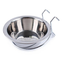 Load image into Gallery viewer, Stainless Steel Hanging Pet Cage Dog Bowl Bird Cat Puppy Food Water Bowl Pet Feeder