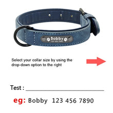 Load image into Gallery viewer, Custom Leather Collars with Personalised Tag & Leash