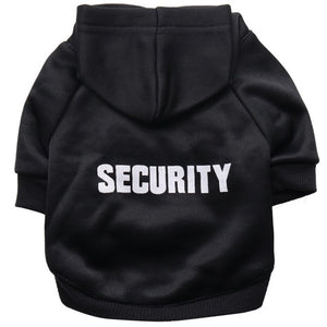 Security Dog Classic Pet Dog Hoodies For Small & Medium Size Dogs