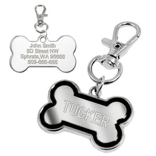 Load image into Gallery viewer, Dog Tag Engraved Custom Pet Dog Collar Accessories Personalized Cat Puppy ID Tag Stainless Steel Bone Paw Name Tags Anti-lost