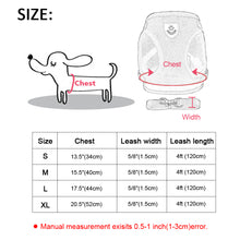 Load image into Gallery viewer, Dog Harness for Chihuahua Pug Small Medium Dogs Nylon Mesh Puppy Cat Harnesses Vest Reflective Walking Lead Leash Petshop