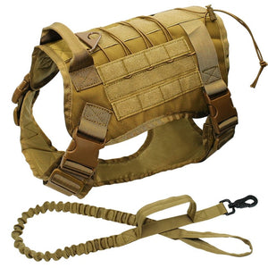 Military Dog Harness with Vest and Leash