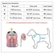 Load image into Gallery viewer, Small Puppy Cat Dog Harness Vest Cute Bowknot Mesh Pet Harness Leash Set Adjustable For Small Medium Dogs Cats Chihuahua Pink