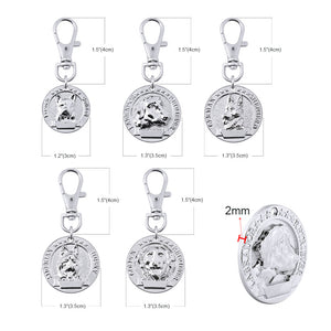 Custom Dog Collar Tag Personalized Stainless Steel Pet Id Tags For Dogs Pet Collar Accessories Name Phone ID Tag Anti-lost