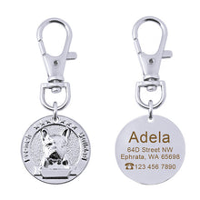 Load image into Gallery viewer, Custom Dog Collar Tag Personalized Stainless Steel Pet Id Tags For Dogs Pet Collar Accessories Name Phone ID Tag Anti-lost